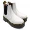 Ботинки Dr. Martens Chelsea Platform Fur White 5