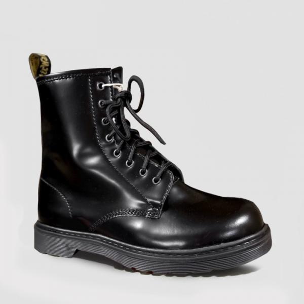 Ботинки Dr. Martens 1460 Patent Mono Black Fur