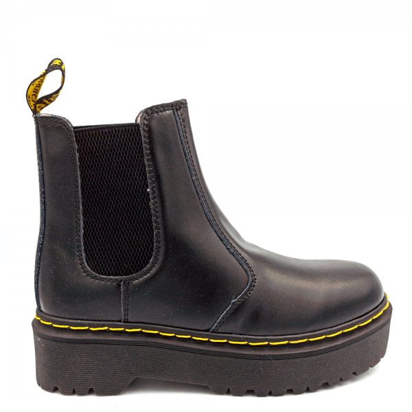 Ботинки Dr. Martens Chelsea Platform Fur Black