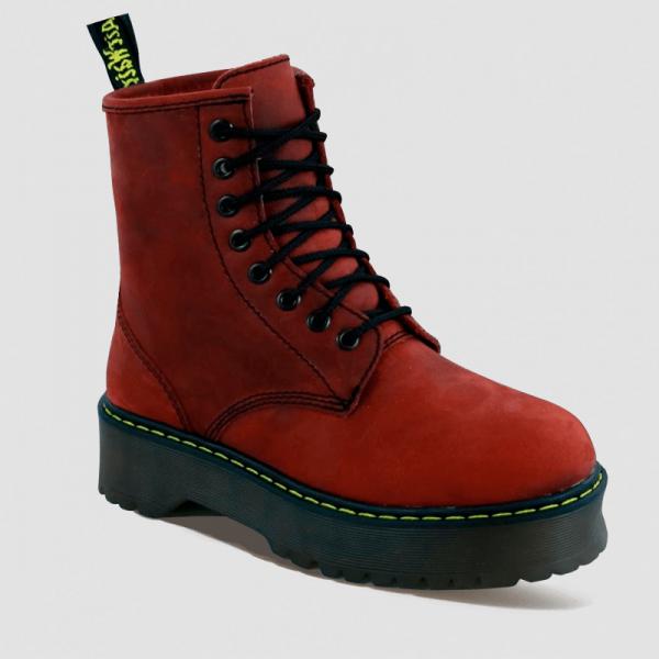 Ботинки Dr Martens Jadone Nubuck Fur Red